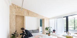 Il monolocale a Milano low budget e smart di Studio Wok
