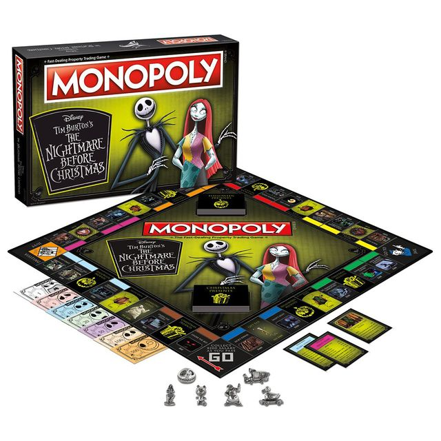 'the nightmare before christmas' monopoly
