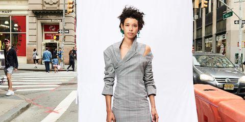 White, Clothing, Street fashion, Shoulder, Fashion, Snapshot, Fashion model, Street, Dress, Footwear,