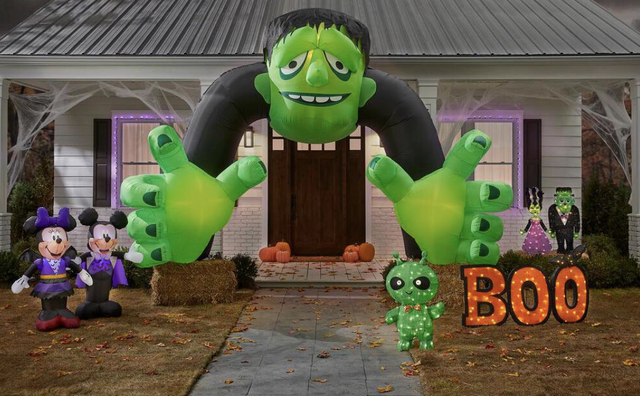 monster in front of a house