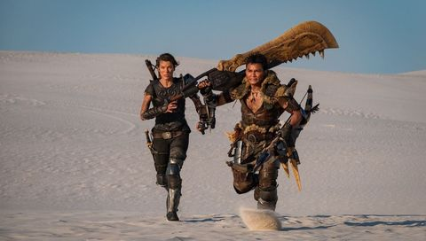 milla jovovich en monster hunter