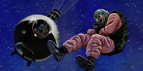 Astronaut, Outer space, Space, Astronomical object, Illustration, Planet, Earth, Universe, Fiction, World,