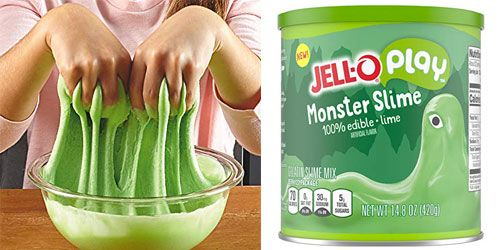 Jell O S Making Slime You Can Eat And Play With Unicorn Slime Monster Slime
