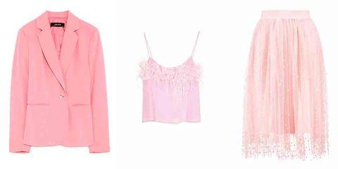 Chaqueta de Zara, Top de Uterqüe y falda de New Look
