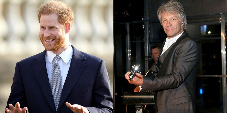 El príncipe Harry y Bon Jovi grabarán una canción juntos