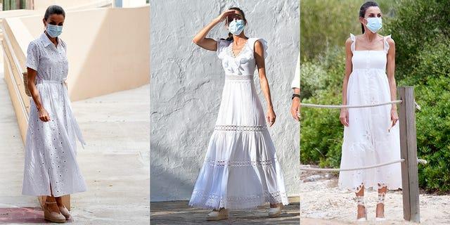 letizia reina vestidos blancos mallorca