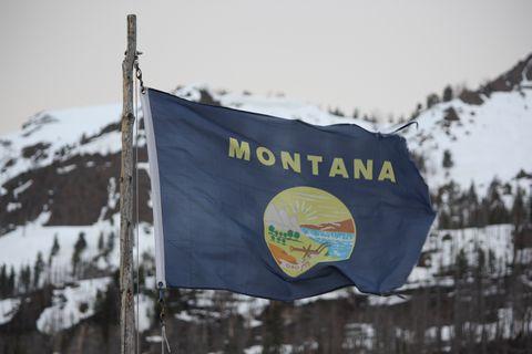 Banner, Winter, Snow, Mountain, Advertising, Flag, Tree, Geological phenomenon, National park, Tourism,