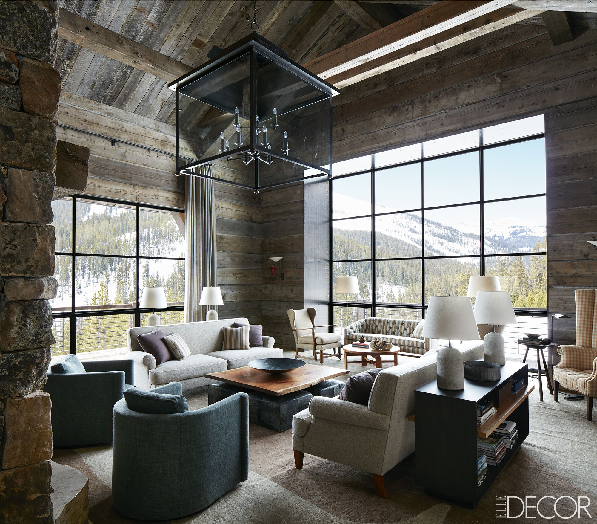 Get The Look Modern Rustic Interior Design In A Masculine