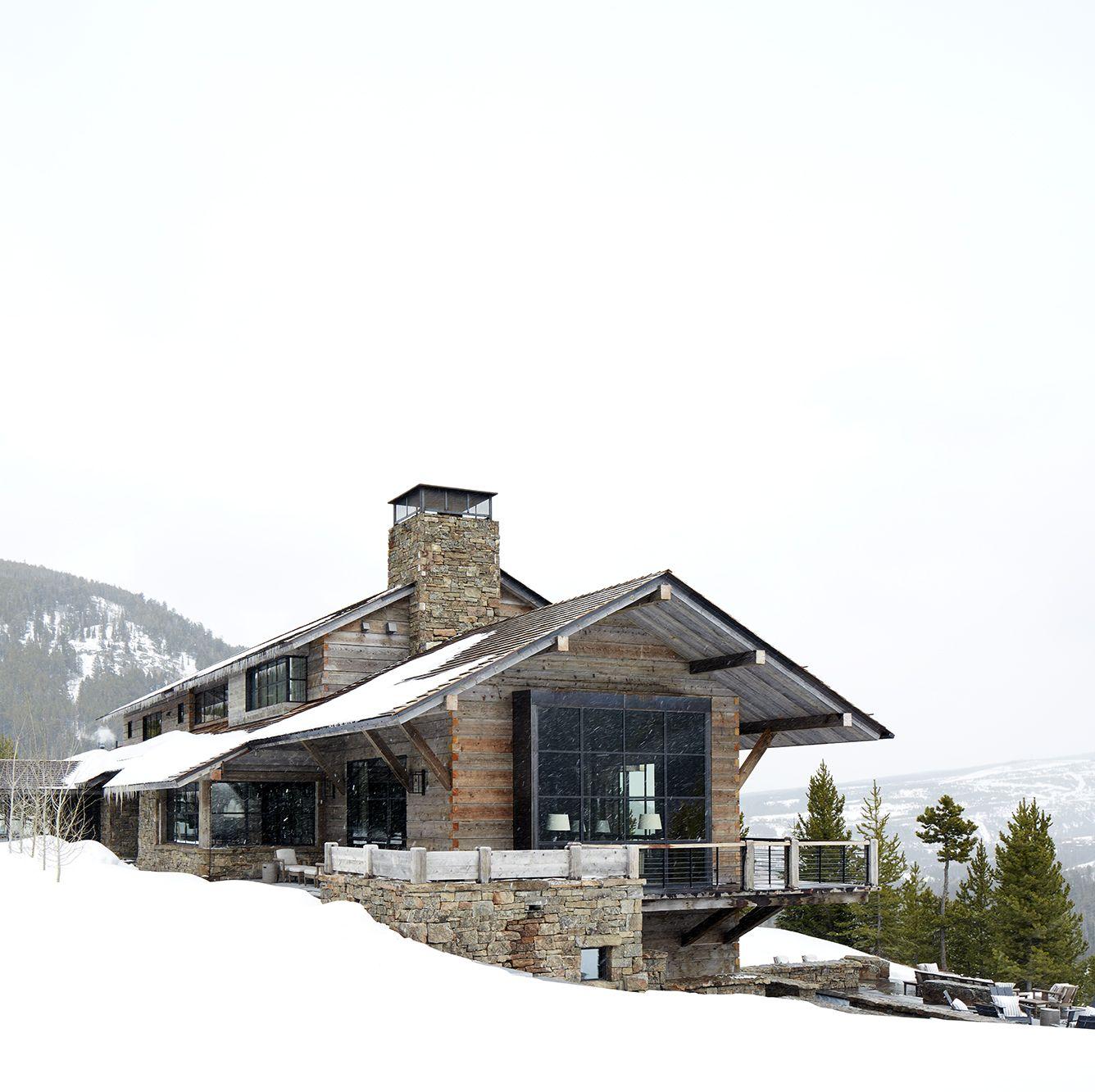 Montana ski chalet. Get the Look! Modern Rustic Interior Design in a Masculine Ski Chalet