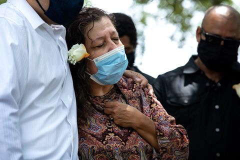 brenda ramos, the mother of michael ramos, at his funeral