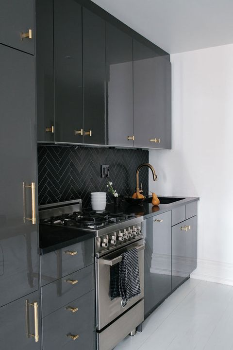 moody galley kitchen
