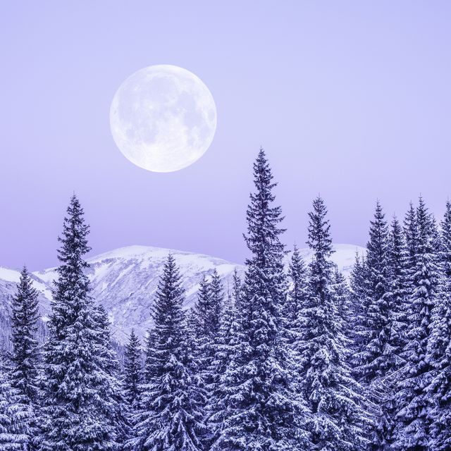 How to watch the full moon snow in February 2021