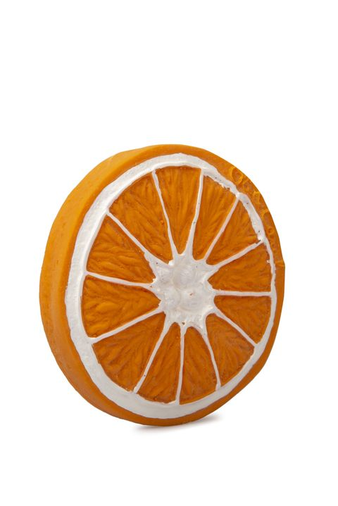Mordedor ecológico con forma de naranja