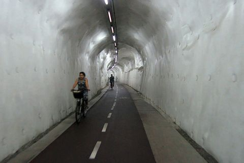 ​San Sebastian bike tunnel