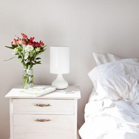 Morning light in bedroom