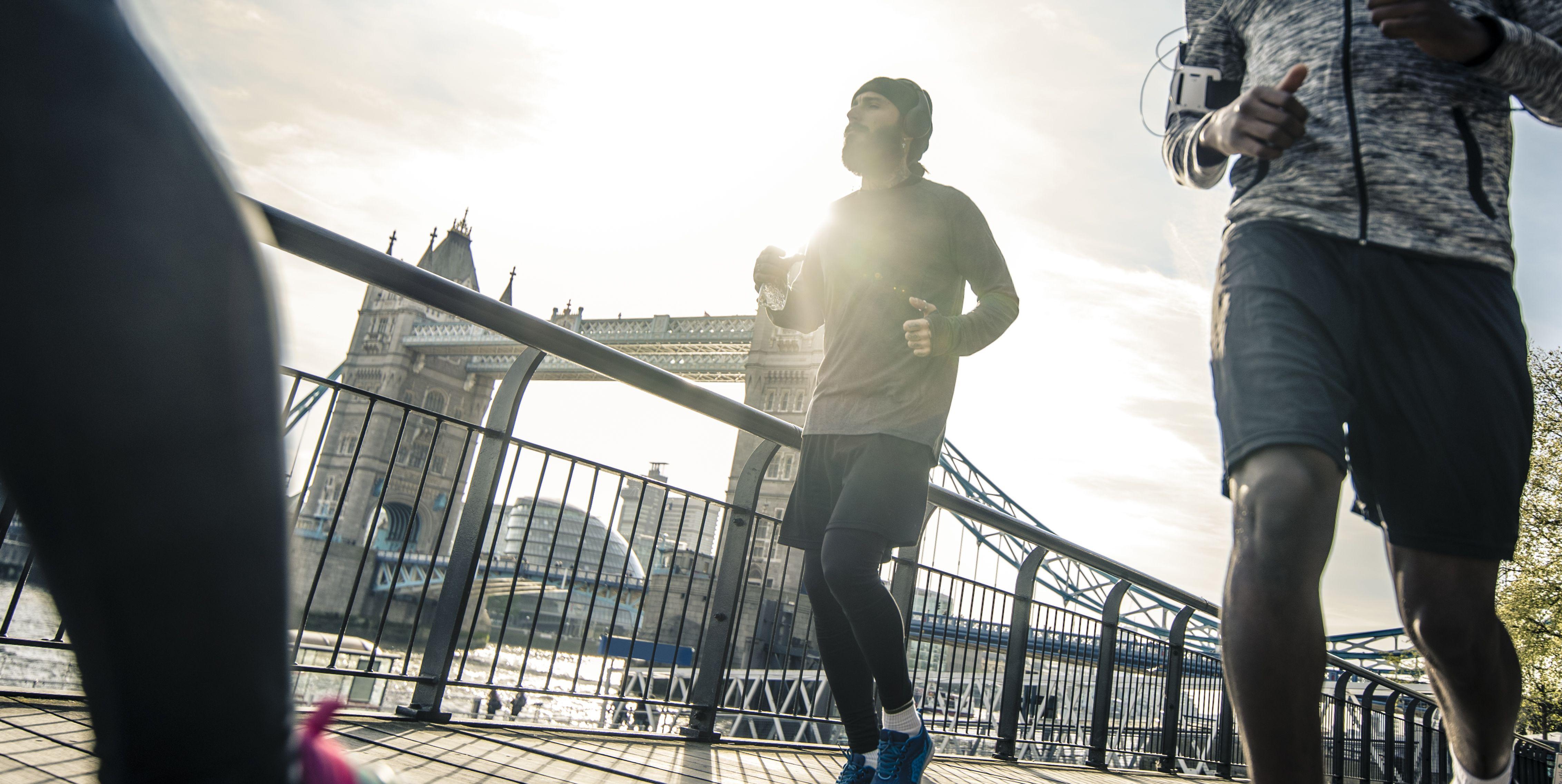 Morning run in London