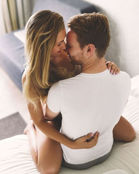 Romance, Love, Interaction, Kiss, Forehead, Hug, Cheek, Blond, Honeymoon, Gesture,