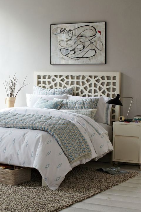 20 best headboard ideas unique designs for bed headboards - Queen bed ideas for small room ...