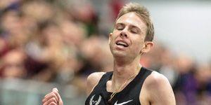 Galen Rupp after breaking U.S. indoor 5K record