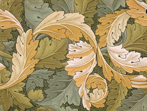 acanthus fabric, william morris
