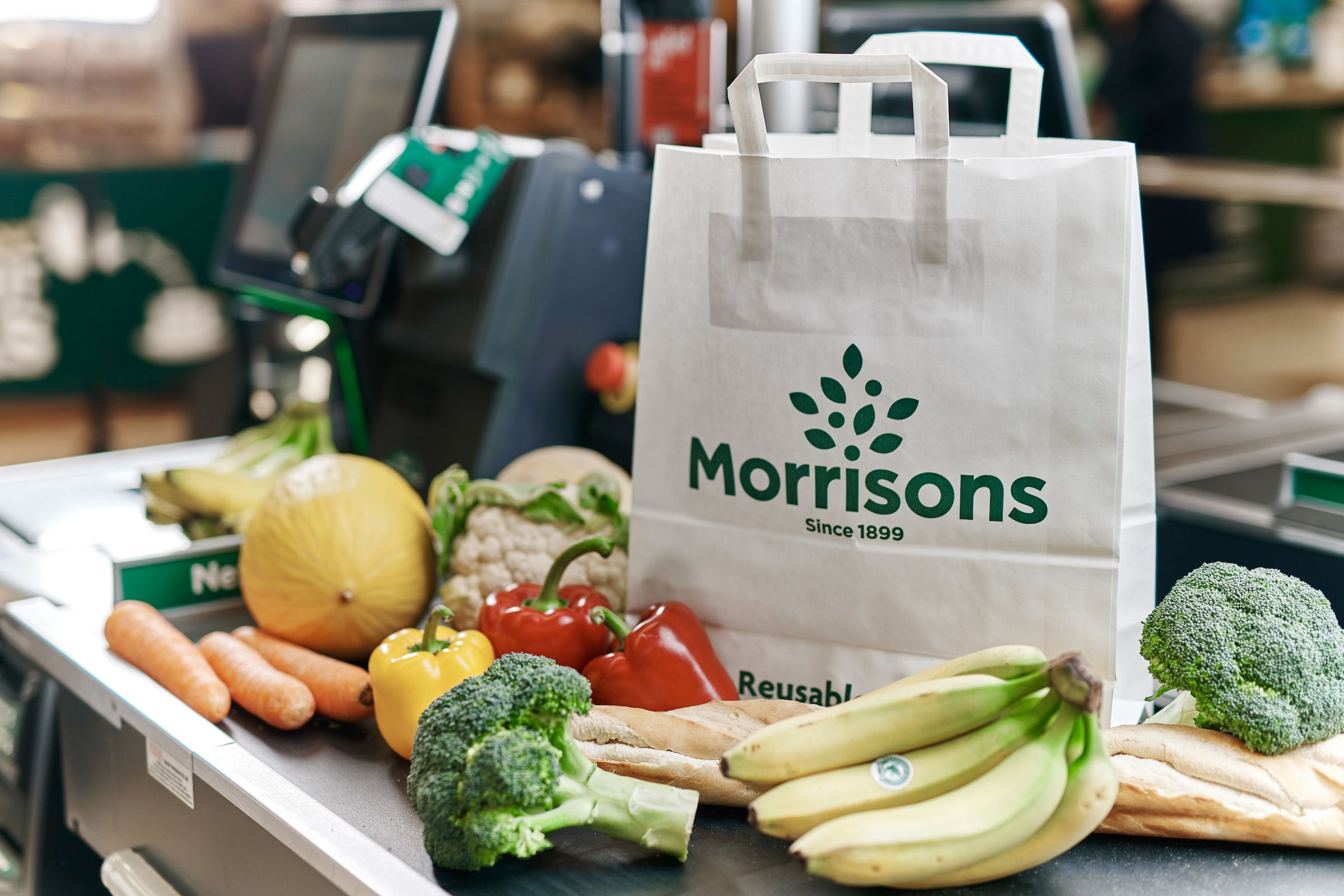 Morrisons is trialling paper carrier bags for 20p to replace plastic ones
