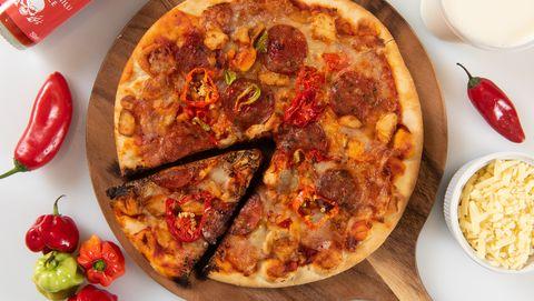 Morrison trick or treat Halloween pizza