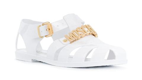 moschino logo 果凍涼鞋