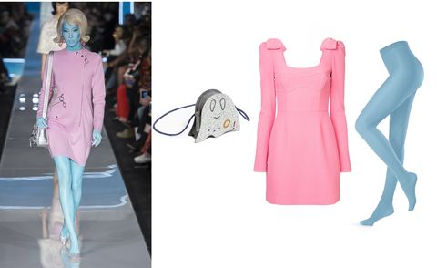 Clothing, Pink, Dress, Fashion, Footwear, Fashion design, Outerwear, Pattern, Formal wear, Neck,