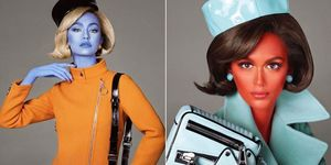 Gigi Hadid and Kaia Gerber Moschino Alien campaign