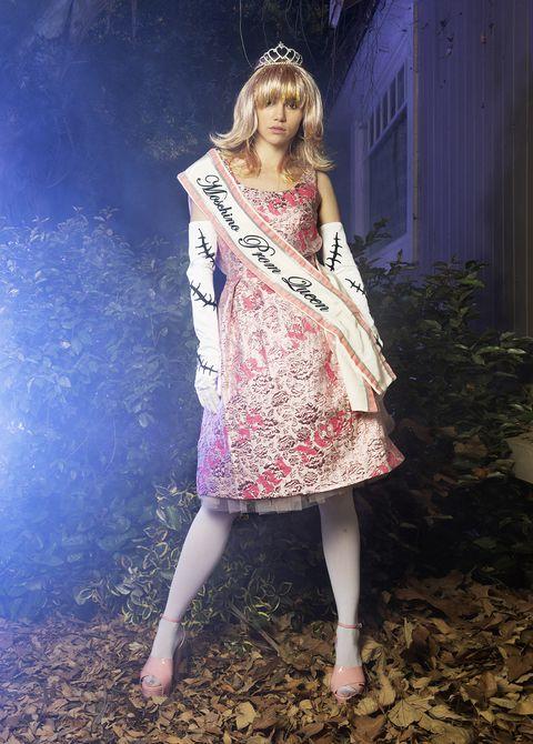 Clothing, Pink, Dress, Beauty, Fashion, Fashion design, Leg, Photography, Photo shoot, Plant,