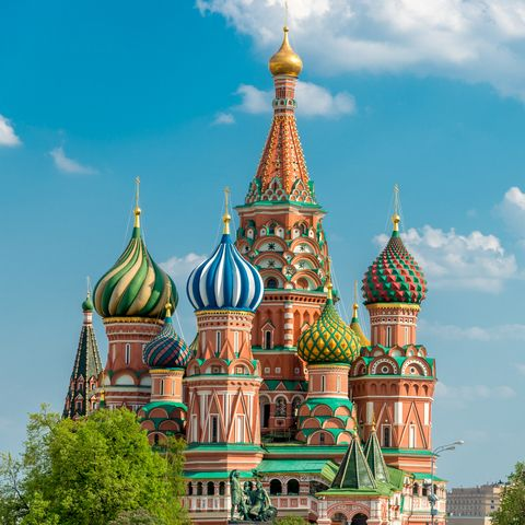 moscow russia stbasil cathedral
