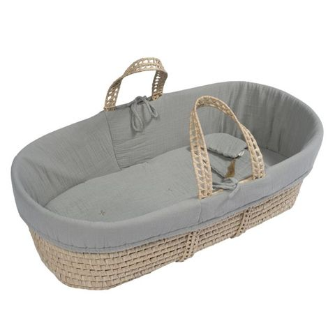 Moses basket Silver Grey S019