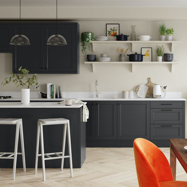 stylish kitchen painted in egyptian cotton white