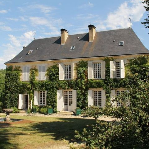 this manor house with a private lake is for sale in dordogne, france