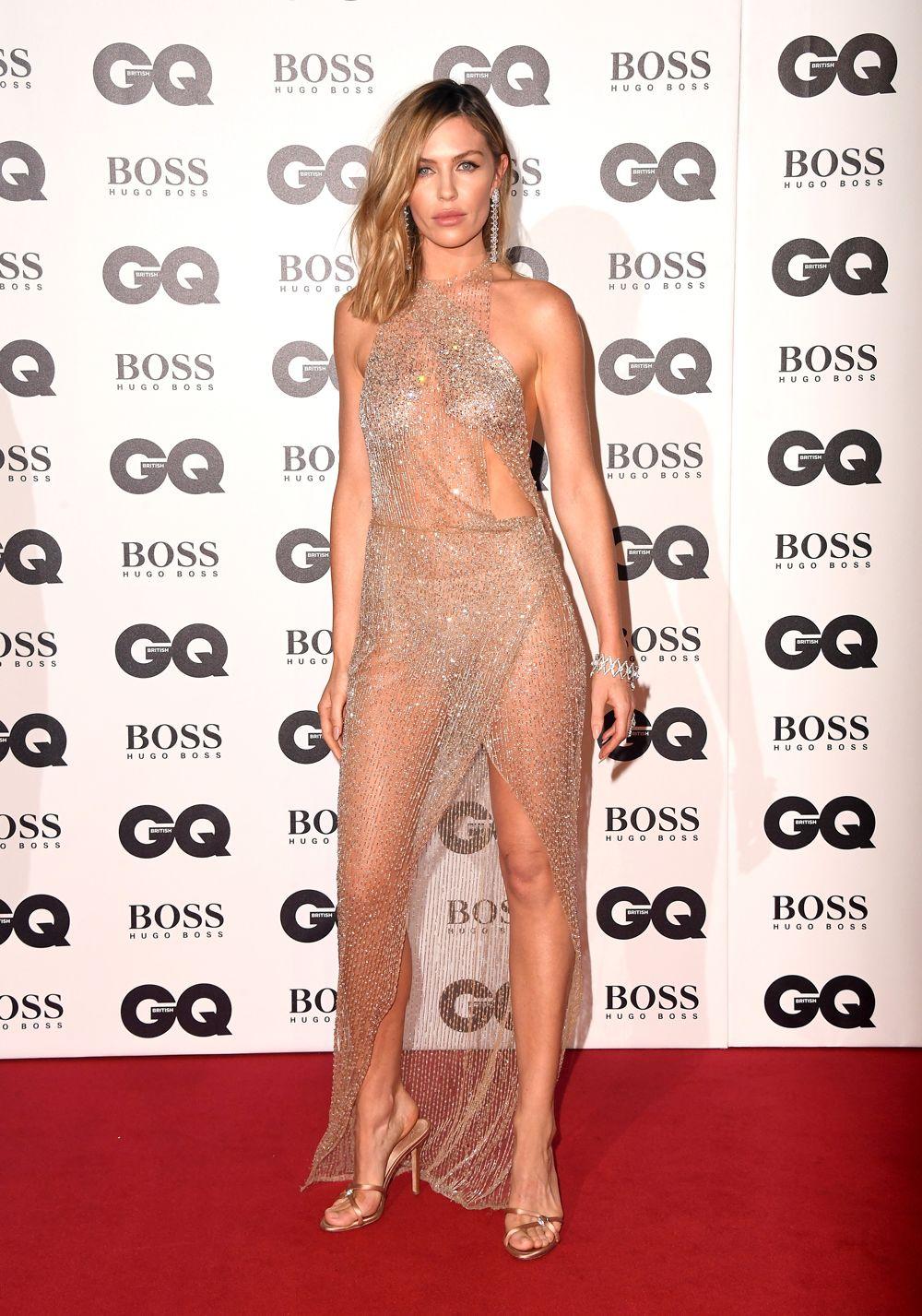 most naked celebrity dresses 2018