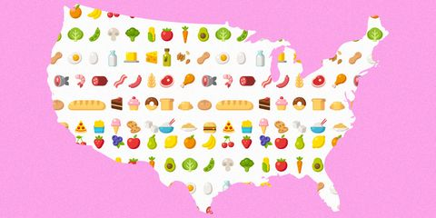 popular diet each state