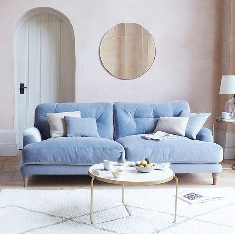most popular sofa colours blue