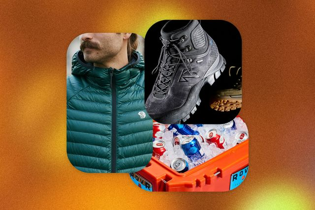 a collage of outdoor gear