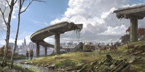 Architecture, Ruins, Overpass, Photography, Bridge, Viaduct, Landscape, World, Games, Screenshot,