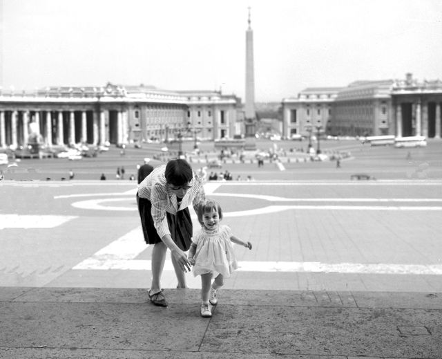 mother and child st peter's square
