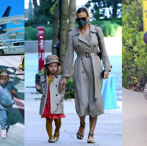 celebrity mother kids matching outfits