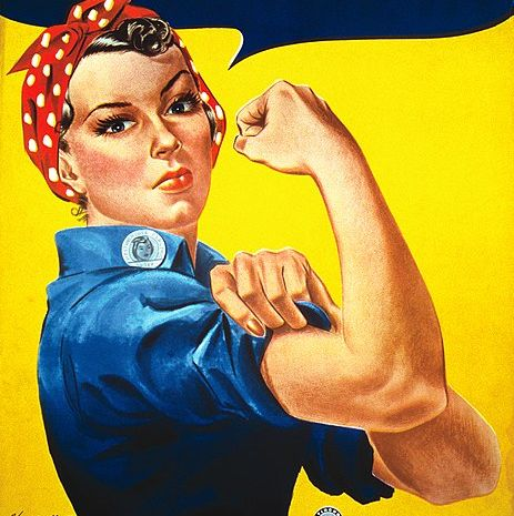 mother daughter halloween costumes rosie the riveter