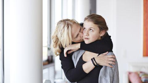 pubers schamen zich voor ouders