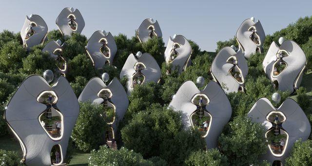 un museovecindario de casas prefabricadas en cerdeña