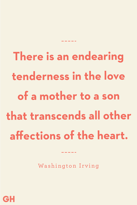 Mother Son Quotes Washington Irving