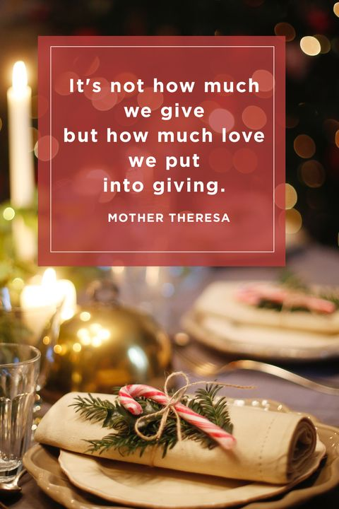 Mother Theresa Christmas Quotes