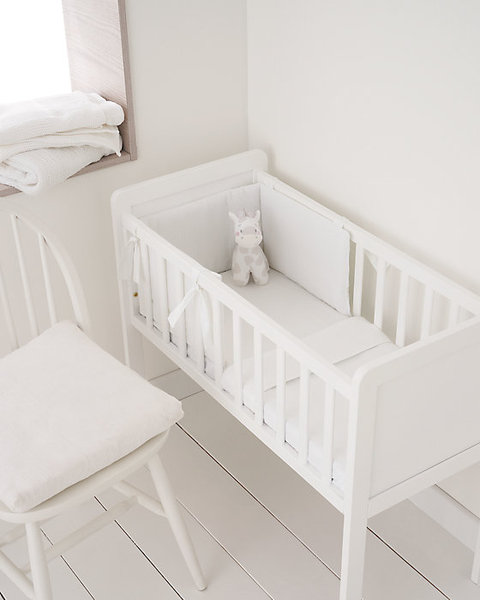 Mothercare white baby crib