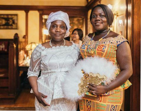 author afia atakora with her mother