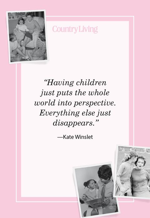 having children just puts the whole world in perspective everything else just disappears