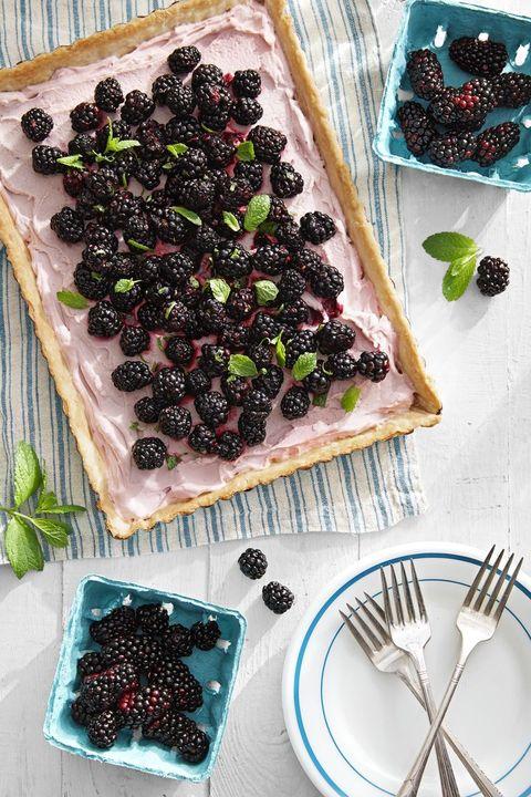 mothers day brunch blackberry tart
